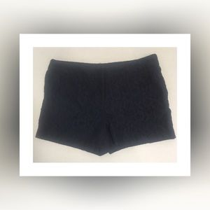 Pants - Navy All Over Lace Shorts!