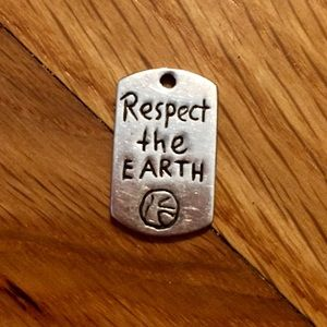 """Respect the Earth"" Silver,Jessica Elliot,Dog-Tag!"