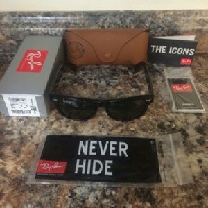 ray ban glass cracked  ray ban wayfarer 2140 black