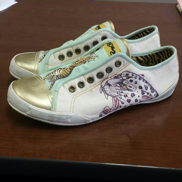 71 ed hardy shoes 7 ed hardy slip on shoes from