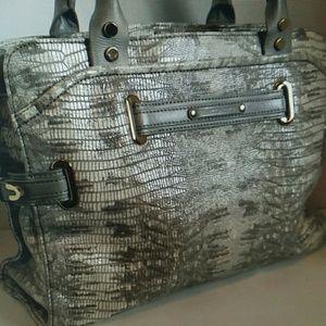Rebecca Minkoff Lizard Embossed Satchel Bag