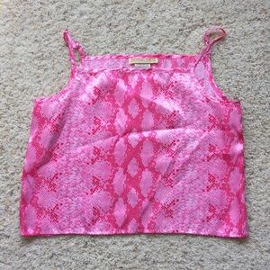 🔴Snakeskin print pink pajama top!