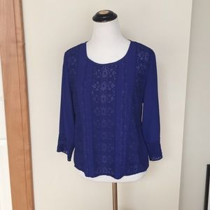 Anthropologie Tops - Anthro meadow rue royal blue blouse