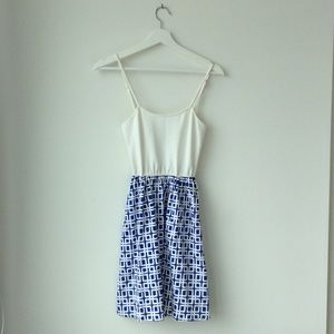 Blue and white Julie Brown dress!