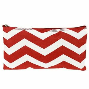 Chevron Red Cosmetic Bag