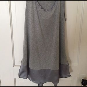 Grey Long Tank Top