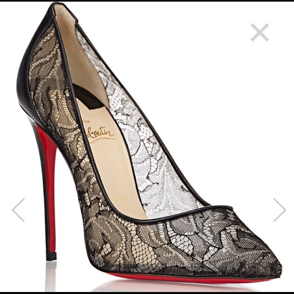 67a18c7783b6 Christian Louboutin Shoes - Christian Louboutin Follies Lace Pumps