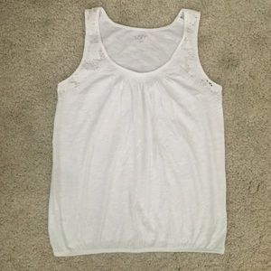 Loft Sleeveless Tank with Lace Sleeves - NWOT