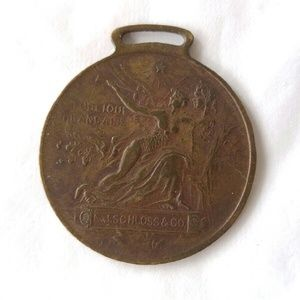 Antique medal 1889 World's Fair Paris France