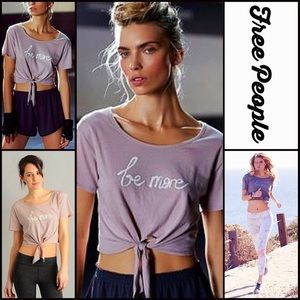 Free People Tops - ❗1-HOUR SALE❗FREE PEOPLE CROP TOP Be More Tee