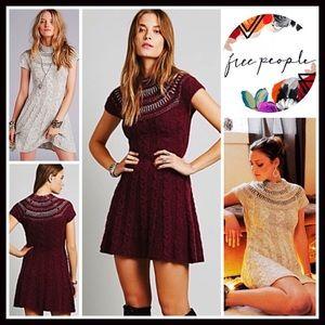 Free People Dresses & Skirts - ❗️1-HOUR SALE❗️FREE PEOPLE A-Line Shift Knit Dress