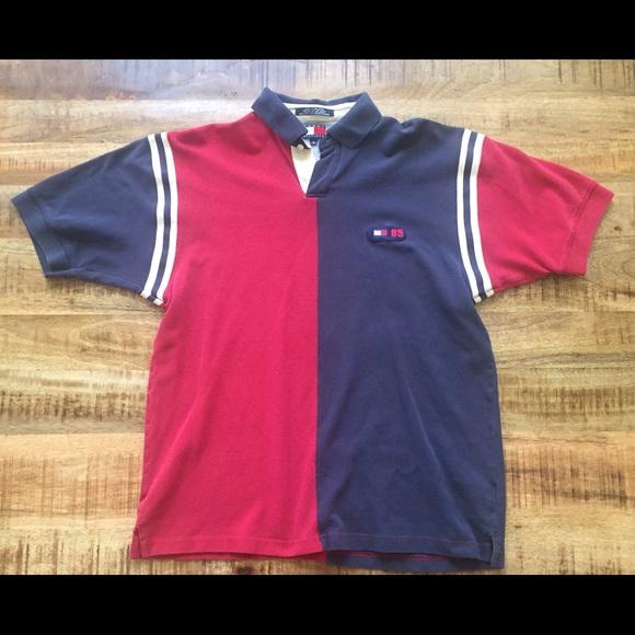 6575e662b Tommy Hilfiger Shirts | Vintage 90s Twotone Polo | Poshmark