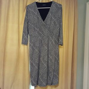 Ellen Tracy black and white wrap dress!