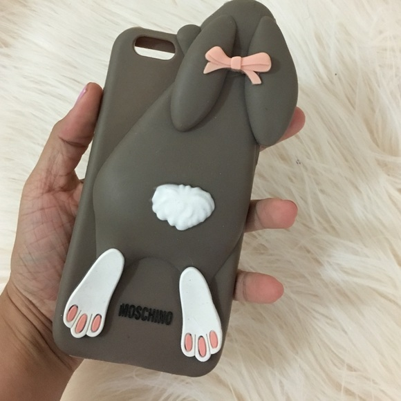differently 0a9d4 db3d6 Iphone 6 plus rabbit bunny phone case Moschino