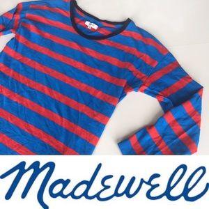 MADEWELL Striped 3/4 sleeve Henley