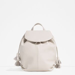 ‼️Final Sale Zara backpack with tassel