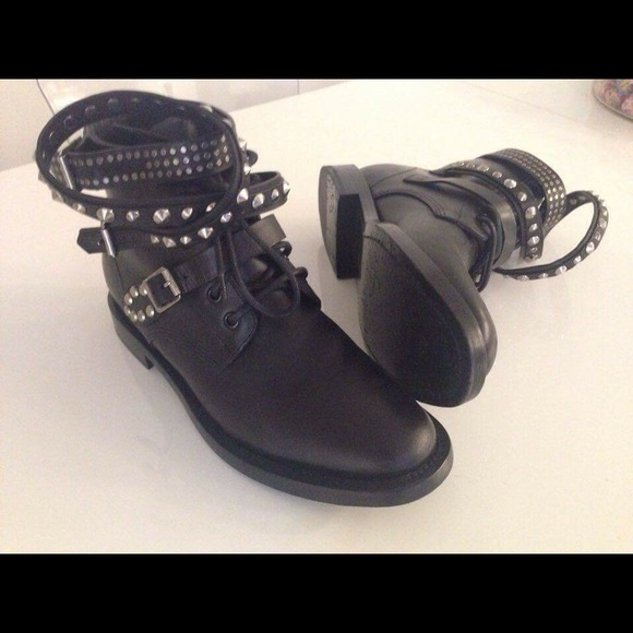 Saint Laurent Studded Rangers Ankle Boots buy cheap best sale outlet fast delivery EHvsFH9v5M