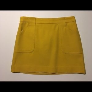 Mustard JCREW mini skirt