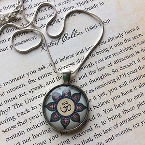 The Om Symbol ~ Lotus Flower Necklace