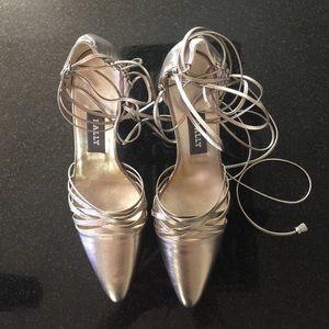 Bally Shoes - Beautiful Bally women's pewter heels