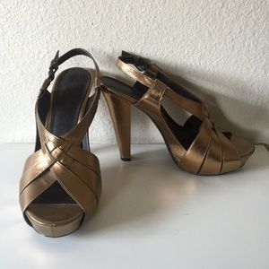 Paolo Pecora Shoes - Deep Gold heels