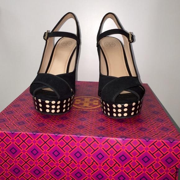 Tory Burch scarpe   Brand New Size 75 Polka Dot Wedges   Poshmark