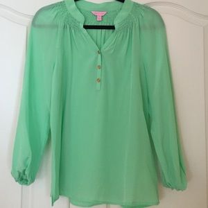 Lilly Pulitzer Silk Flowy Blouse