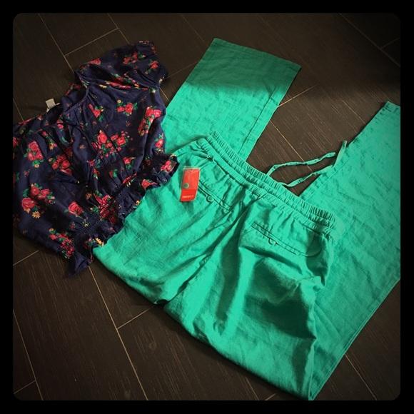 66% off Pants - BOGO🙀😻Teal Linen Pants from Shopaholic's closet ...