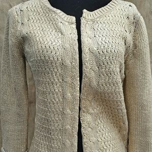Willow & Clay Sweaters - Willow & Clay tan/gold sweater
