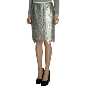 Sacai Dresses & Skirts - Sacai Silver Laser Cut Skirt