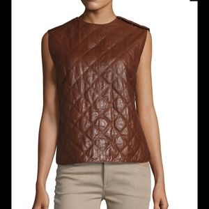 Brunello Cucinelli Tops - 🔥Brunello Cucinelli bishop quilt leather vest