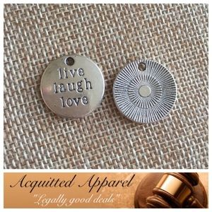 Acquitted Apparel Jewelry - Silver Live Laugh Love Necklace Pendant Charm