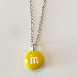 Other - Yellow M&M Pendant Charm Necklace