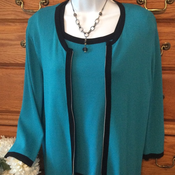 2ebc91af9097 Dress Barn Sweaters - Dress Barn Green 2 Piece Ribbed Sweater Set