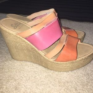 Sotto sopra Shoes - Pink and orange wedge