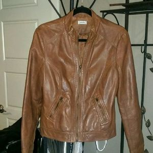 Brown faux Leather Jacket from Spain