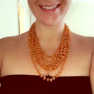 Jewelry - Multi Strand Burnt Orange Necklace
