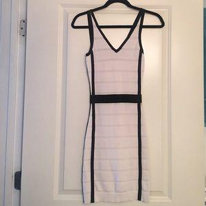 Mango Dresses & Skirts - Black & white bandage dress