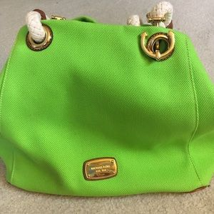 Women's Michael Kors Lime Green Handbag on Poshmark