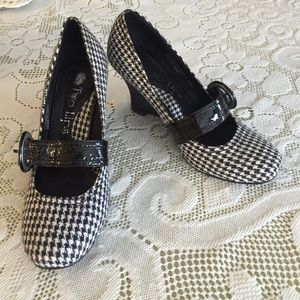 Two Lips Shoes - Two Lips✨Houndstooth Wedge