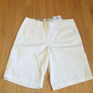 J.Crew White Bermuda Shorts