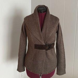Soft Surroundings thick knit wrap cardigan