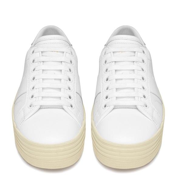 65d7a4afa907 Saint Laurent Shoes | Classic Court Platform Sneakers | Poshmark