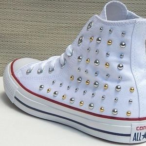 "CONVERSE ""All -Star Studded"" Classic Hi-Tops"