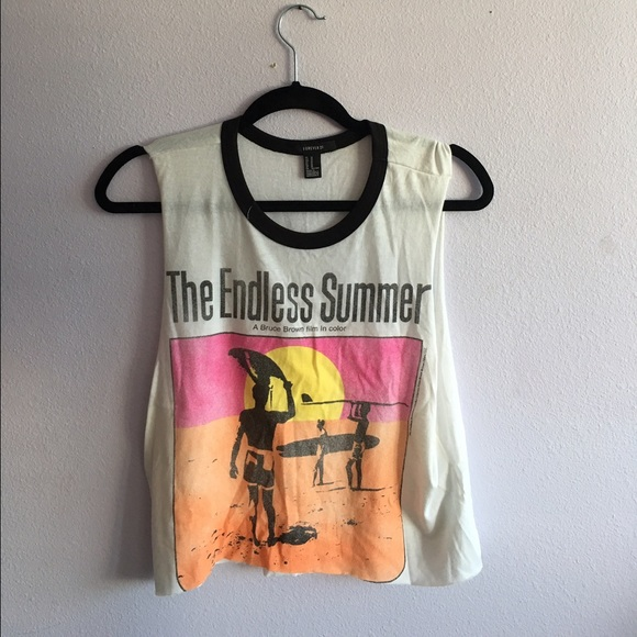 daf82db7dcbb Forever 21 Tops - Forever21 Endless summer Graphic Tank Size M