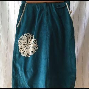 European Connection Dresses & Skirts - European Connection Corduroy Teal Skirt NWT 11/12