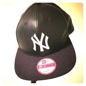 new era accessories black leather ny yankees cap poshmark