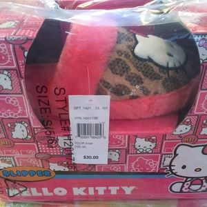 Hello Kitty Shoes - HELLO KITTY LEOPARD PRINT SLIPPERS