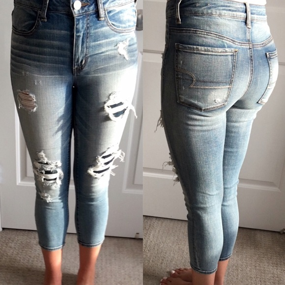 14591a5d15c American Eagle Outfitters Denim - American Eagle High Rise Jegging Crop  Jeans