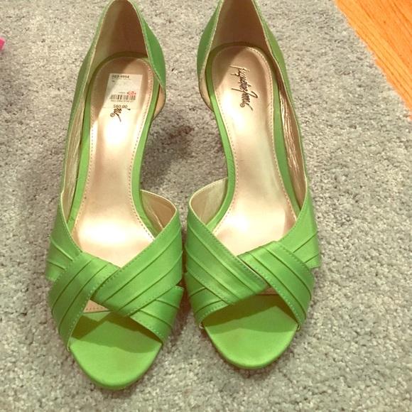 83 jacqueline ferrar shoes lime green high heels